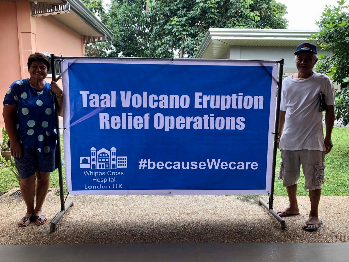 Photo of Taal volcano relief operation