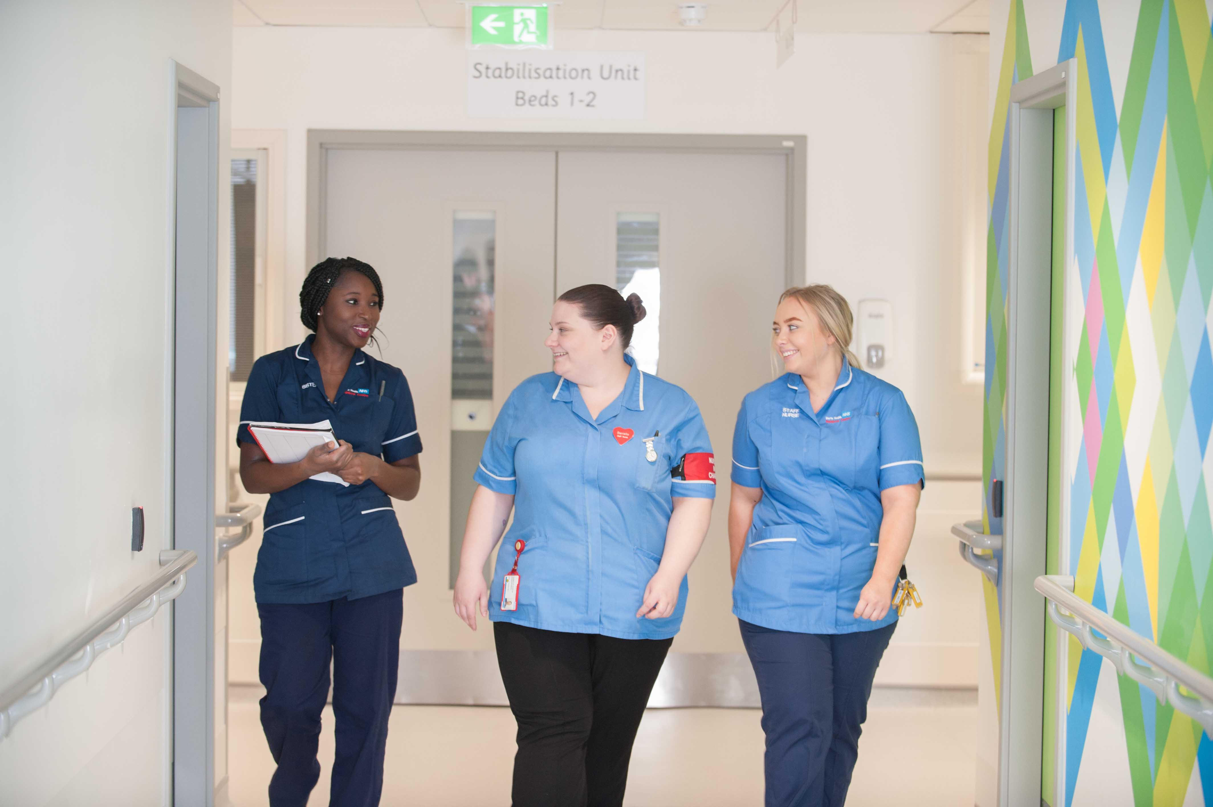 Nurses at Newham University Hospital